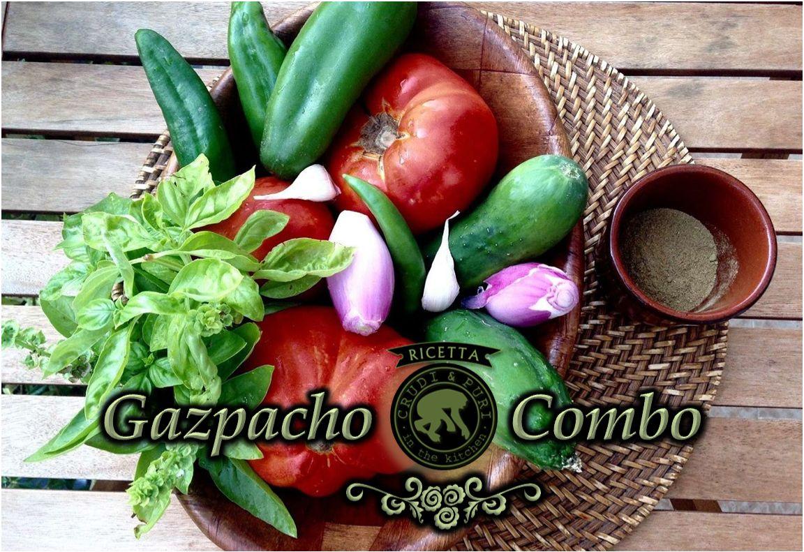 GAZPACHO: centrifugato e zuppa di scarti.